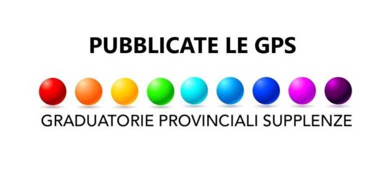 PUBBLICATE LE GRADUATORIE PROVINCIALI GPS DEFINITIVE – DATI IN  AGGIORNAMENTO - streetnews