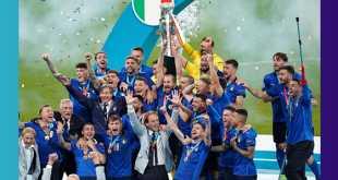 Italia Campione d'Europa . Immagine Sky Sport. a.r.r.